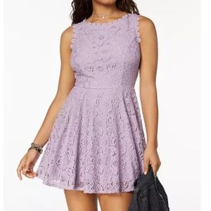 Pale Violet - Lace Fit & Flare Dress